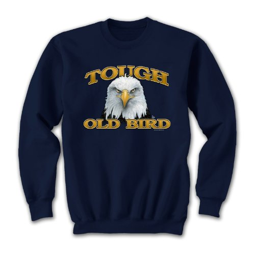 Tough Old Bird - Large Sweatshirt Navy Blue, Novelty Gift (Old Navy Mens Pullover)