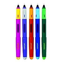 STYLEX Schreiblern-Tintenroller, mit 6 Tintenpatronen, blau