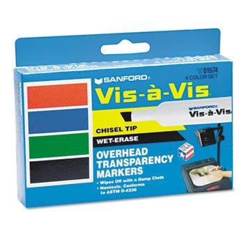 vis-vis-wet-erase-marker-chisel-point-assorted-4-set
