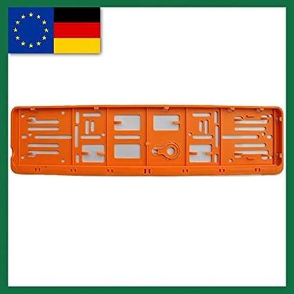 Farbe Eu Norm 110x520 Deutschland 1 Set Und Alle Normländer W Kennzeichenrahmen Für 1 Kfz Orange Auto