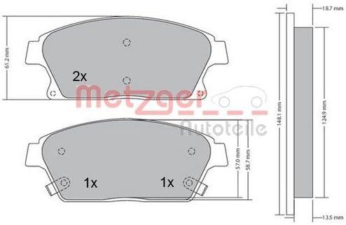 Metzger Bremsscheiben /ø300mm Bremsbel/äge Set Vorne