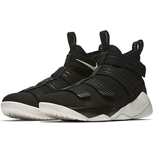 timeless design f21fc 6a082 Galleon - Nike Mens Lebron Soldier XI SFG Basketball Shoes Black Racer Blue  Sail 897646-004 Size 11
