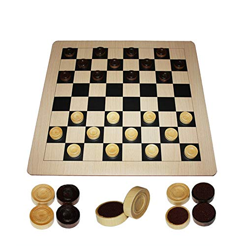 (TIJEASCXX Draughter Wooden Chess 47 47 0.3cm Folding Checkerboard Magnetic Chess Game )