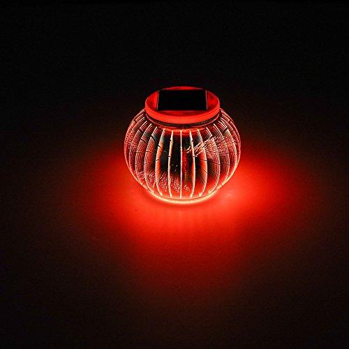 per Lampada B Festività in Lampada interna a sospensione energia All'aperto tavolo 3D Lanterna da Lampada solare Natale festa giardino LED placcata a INORTON Decorazione da a impermeabile dAwSFBq