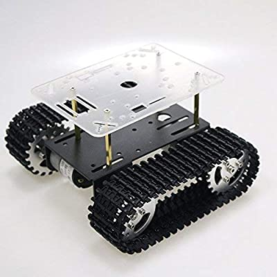 SZDoit Smart Robot Tank Chassis Tracked Car Platform with Dual DC 12V Motor for Arduino