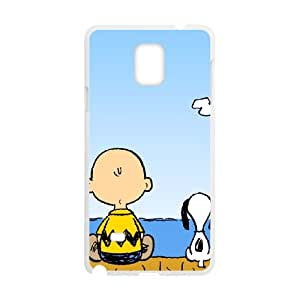 Samsung Galaxy Note 4 Cell Phone Case White Charlie Brown and Snoopy ljpg