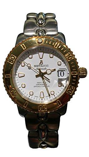 Bertolucci Two-tone Yellow Gold Finish Diver Men's Watch 634.55.49B.210