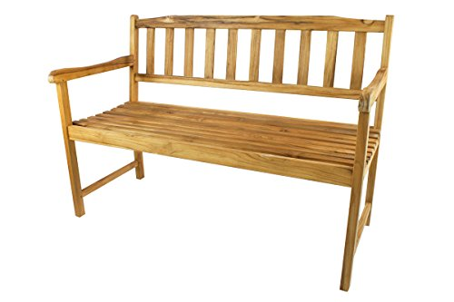 Thirteen Chefs Terra Teak Outdoor Bench, Premium Teak Wood (4 Feet Wide)