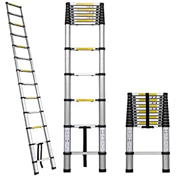 12 5 Ft Aluminum Extension Telescoping Ladder Supports Up