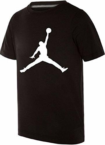 Nike Air Jordan Boys Jumpman 23 Dri-Fit T-Shirt (Large, Black)