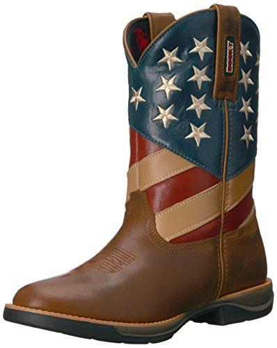Flag RKW0222 Rocky American Brown Western Boot Women's RzSxwYqa