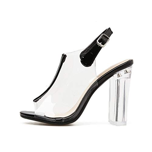 Best Rated for Winter Gift 35-40 Slingback Shoes Sandals Mujer Thick High Heels Gladiator Sandals Women Pumps -