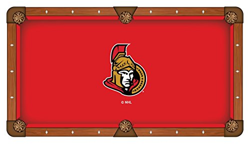 NHL 9ft Pool Table Cloth by Holland Bar Stool - Ottawa Senators ()