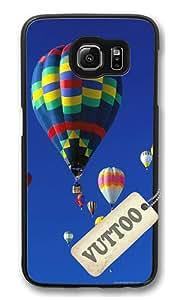 Samsung S6 Case,VUTTOO Stylish Albuquerque International Balloon Fiesta Hard Case For Samsung Galaxy S6 - PC Black