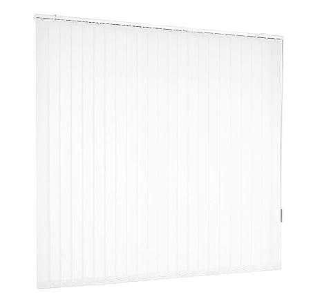 Lamellenvorhang Vertikaljalousie Weiß Lamellen Fenster Rollo Breite 100 bis 250 cm Länge 150 bis 250 cm Vorhang Flächenvorhan