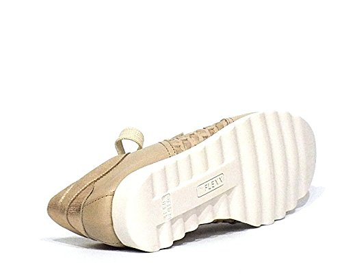 The Flexx Sneaker in Pelle Beige e Oro N. 36