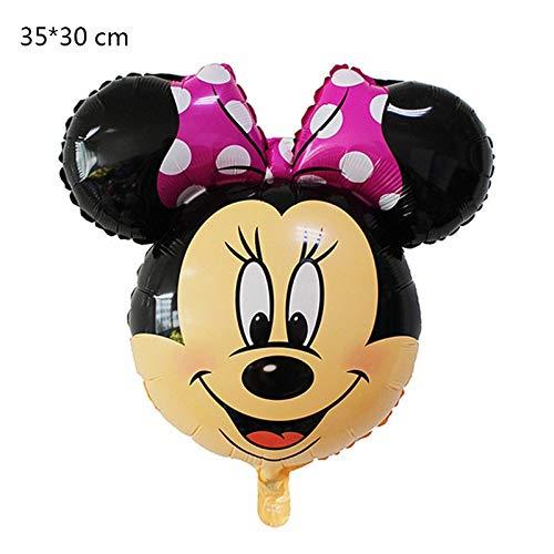 CHENZHAOL Globos del Partido 50 Piezas Mickey Mouse Minnie ...