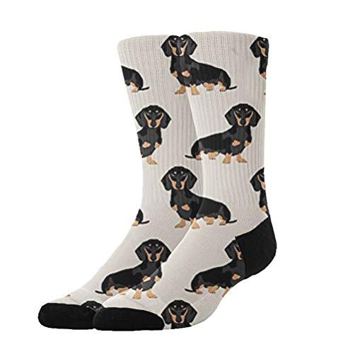 KYWYN 3D Dachshund Weiner Dog Pet Compression Socks for Women Men, Fit for Running, Athletic Sports, Crossfit, Flight, Travel, Pregnancy, Nurses (20-30 mmHg) -