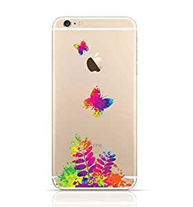 Iphone 5/5 S Transparent TPU Silicone Case with Colorful Spring Design