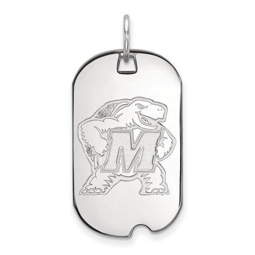 Sterling Silver LogoArt University of Miami XS Pendant