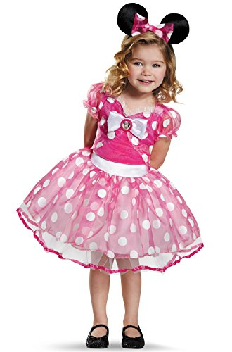 Pink Minnie Tutu Deluxe Costume, Large (4-6x)