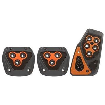 Manual Coche Pedales, Metal acolchado almohadillas de pedal de freno de pie naranja Bmw y Benz: Amazon.es: Coche y moto