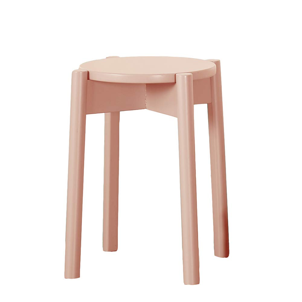 E GWDJ Stool, Solid Wood Stool, Restaurant Dining Stool, Reinforce Seat Stool, Low Stool, Bench, Balcony Stool, 5 colors Reinforced Footrest (color   E)