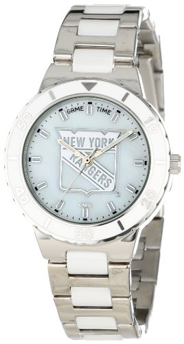 "Game Time Women's NHL-PEA-NYR ""Pearl"" Watch - New York Ra..."