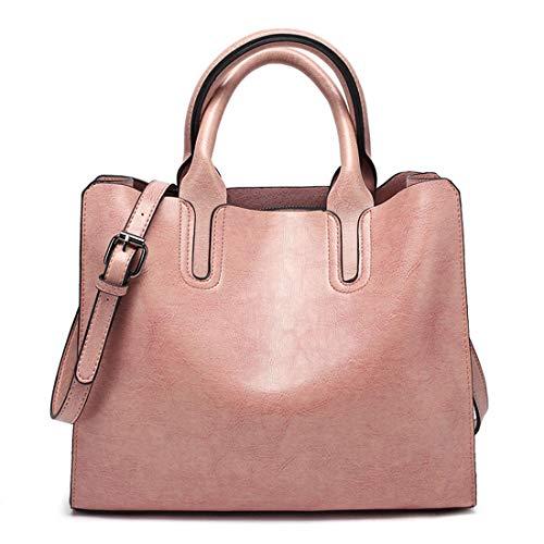 Brown De Las Bolso Olprkgdg Cuero Retro color Pink Pu Totalizador Bolsos Hombro Casual Del La Caliente Mujeres xSxZn