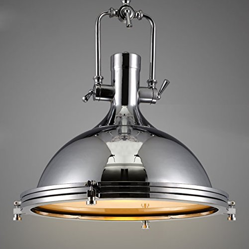 Chrome Nautical Pendant Light on Chain