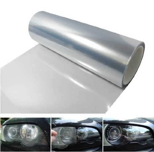 Masione Auto Car 12 by 48 inches Self Adhesive Clear Bra Headlight Bumper Hood Paint Protection Film Vinyl Sheet Headlights, Tail Lights,Smoke Fog Lights Tint Vinyl Film Car Light HeadLight Sheet Car Sticker (Car Light Shield compare prices)