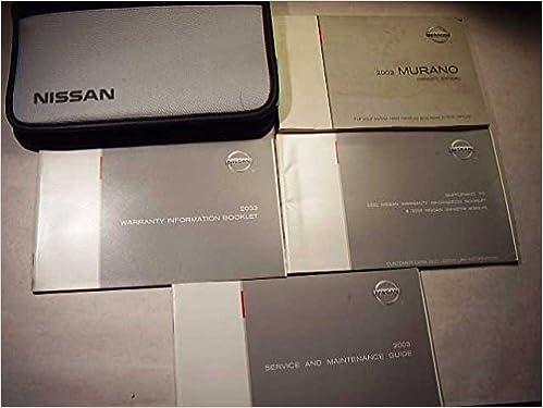 2003 nissan murano manual