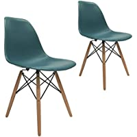 Apontus 41416 Leisure Chairs Eames Style Dining, Turquoise