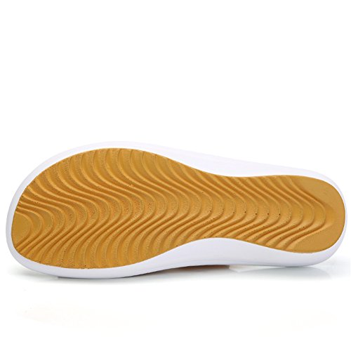 Women Leather Summer 858 Platform Sandals Mid Slide Shoes Toe On HKR Heel Yellow Open Slip 4fgqdqwY