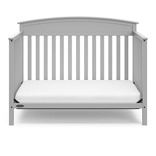 41jy 2k8OrL - Graco Benton 4-in-1 Convertible Crib, Pebble Gray, Solid Pine And Wood Product Construction, Converts To Toddler Bed Or Day Bed (Mattress Not Included)