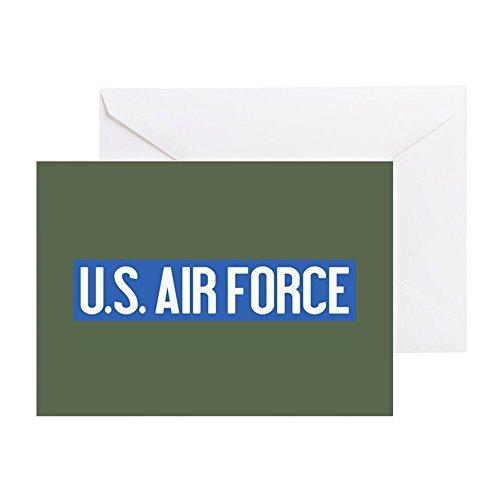 Forces Olive Drab Vintage Fatigue - CafePress U.S. Air Force: Vintage (OG) Greeting Card, Note Card, Birthday Card, Blank Inside Glossy
