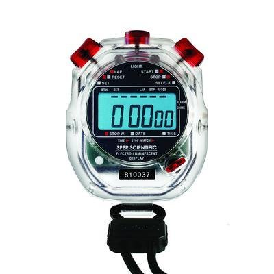 Sper Scientific Electro-Luminescent Digital Stopwatch, Water Resistant