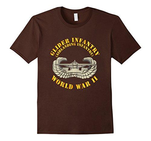 Mens Glider Infantry - World War II Tshirt Small Brown ()
