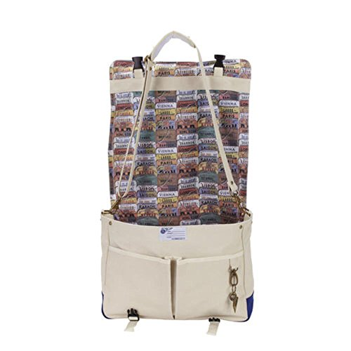 Messenger azul Beige 100 Pan Am Messenger Bolsas Cotton Hombres fwTaRCq