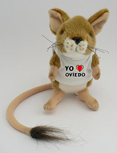 Gerbo de peluche con Amo Oviedo en la camiseta (ciudad / asentamiento)