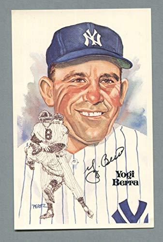 Yogi Berra Signed Perez Steele Postcard Auto B&E Hologram - MLB Cut Signatures from Sports Memorabilia