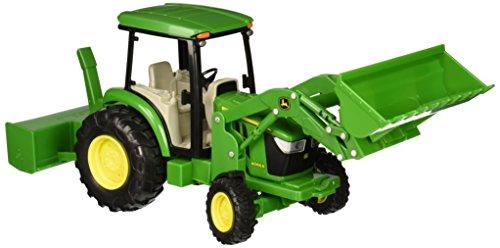 Big Farm John Deere 1:16 4066R Utility Tracor with Loader, Rear Blade and (Scale Big Farm)