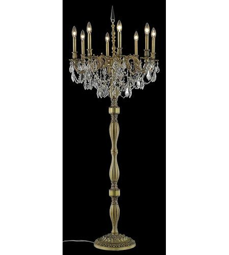 Floor Lamps 8 Light with French Gold Finish Swarovski Strass E12 Bulb 24 inch 480 Watts - World of Classic ()