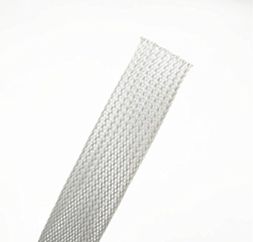 Wang-Data PET Gray Braided Cable Sleeve 1/4 inch X 100ft (1/4'' X 100') by Wang-Data