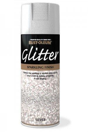Rust Oleum Sparkling Silver Glitter Aerosol Spray Paint Clear Sealant Coat 1 Pack