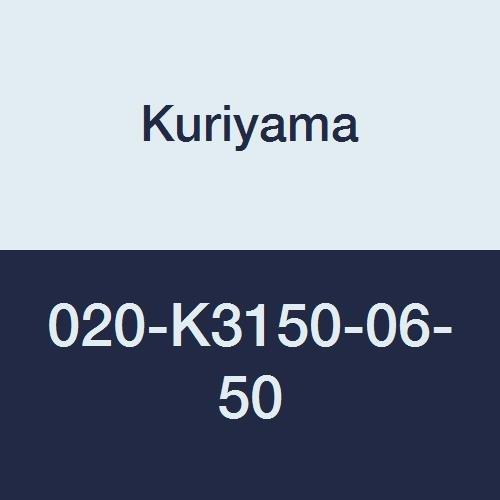 020 Yarn (Kuriyama 020-K3150-06-50 CLEARBRAID K3150 Series RF Standard Wall Clear Yarn Reinforced PVC Food and Beverage Hose, 3/8