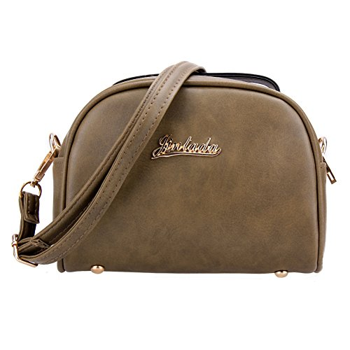 JD Million shop New Vintage Casual Women PU Leather Small Package Female Simple Handbags Ladies Shoulder Messenger Crossbody Bag (Yves Saint Laurent Vintage Tie)