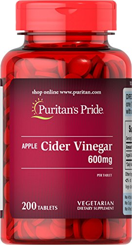 Puritan's Pride Apple Cider Vinegar 600 mg-200 Tablets