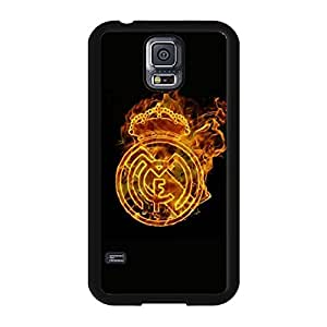 Hot Fire Real Madrid CF Phone Case For Samsung Galaxy S5 I9600 Cool Fire Real Madrid