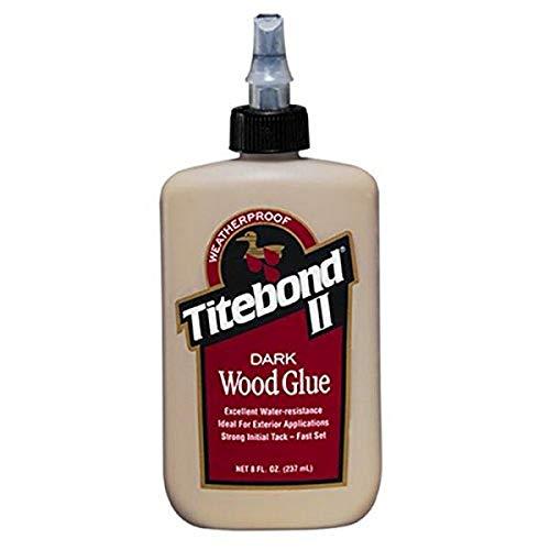 Titebond 3703 Cross-Linking Polyvinyl Acetate Dark Wood Glue, 8 Oz, Bottle, Light, Liquid, 8 Ounce, Brown